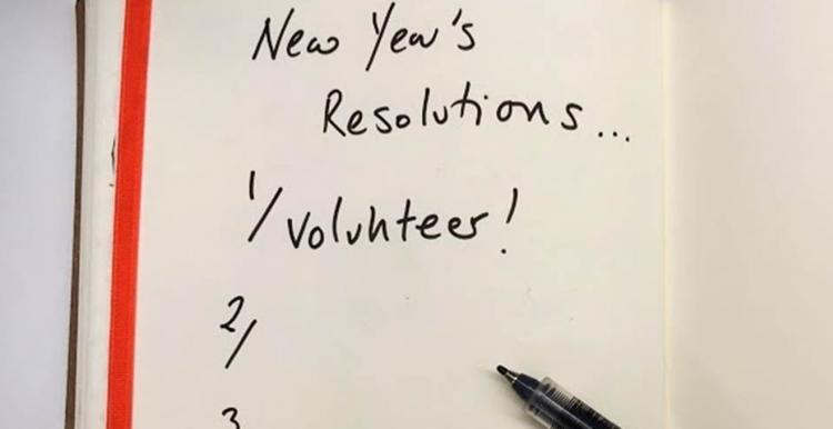 new year volunteer