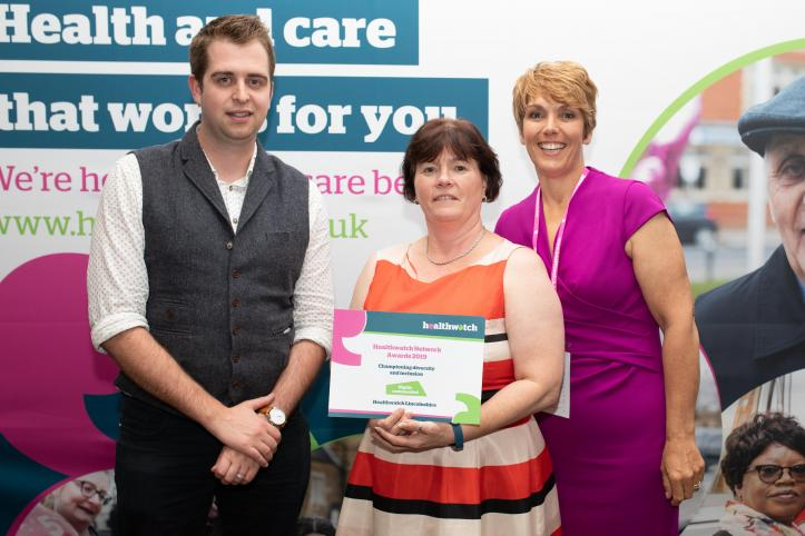 Healthwatch lincolnshire award