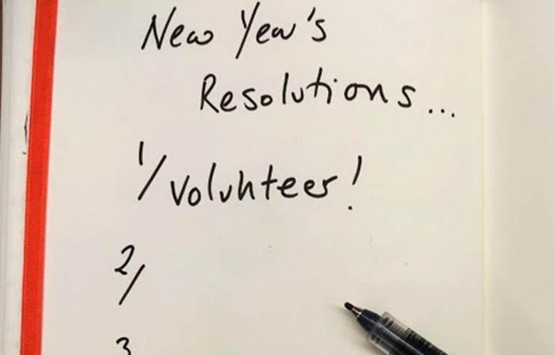 new year volunteer
